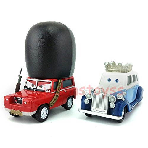 Costumes Collections In London (Car Toys Pixar 1:55 Scale Diecast 2 The queen & Sgt Highgear London Guard Metal Toy and Car Collectors)