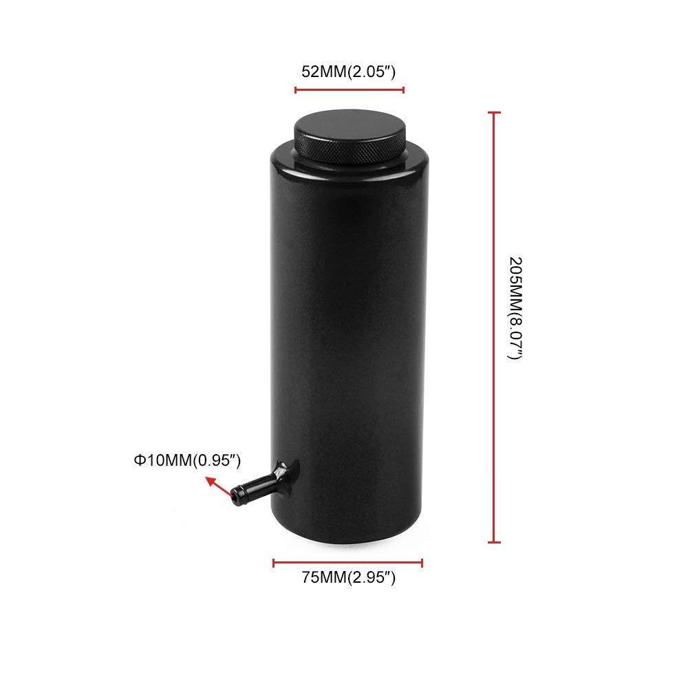 Bin Zhang Car modification accessories car universal water tank 800ml aluminum alloy cooling pot auxiliary water tank (Size : Black) by Bin Zhang