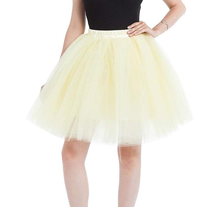 1d1a7afa5 Faldas Tul Mujer Enaguas Cortas Tutus Ballet Mini para Mujer Adultos ...