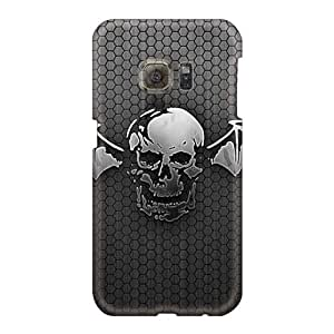 Shock-Absorbing Hard Phone Case For Samsung Galaxy S6 With Allow Personal Design Attractive The Death Bat Pattern Customcases88