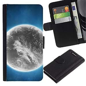 Stuss Case / Funda Carcasa PU de Cuero - Espacio Planet Galaxy Estrellas 44 - Sony Xperia Z3 Compact