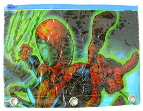 Green Spiderman Zip Lock Pencil Pouch Cosmetic Bag