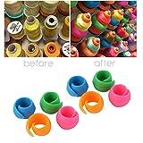 Hot Sale! Hongxin 8/16/24/32/40/48pc Huggers Keep Thread Spools from Unwinding Peels Art Craft Sewing Tools Clearance (A (48pcs))