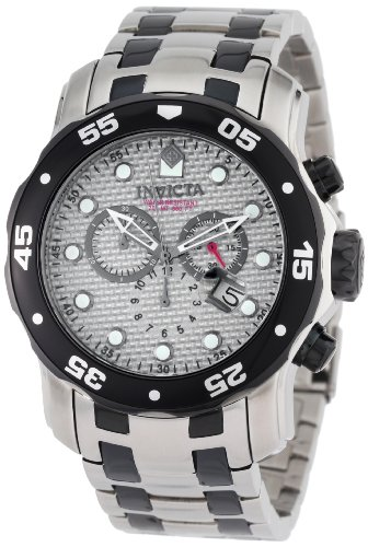 Dial Gunmetal Ss Case - Invicta Men's 0690 Pro Diver Chronograph Stainless Steel and Gunmetal Watch