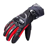 TAGVO Winter Motorcycle Gloves Windproof, Hard Knuckle Warm for Motorbike Riding
