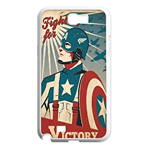 Samsung Galaxy Note 2 Cases Captain America Retro Propaganda, Luxury Case For Samsung Galaxy Note 2 - [White] Bloomingbluerose
