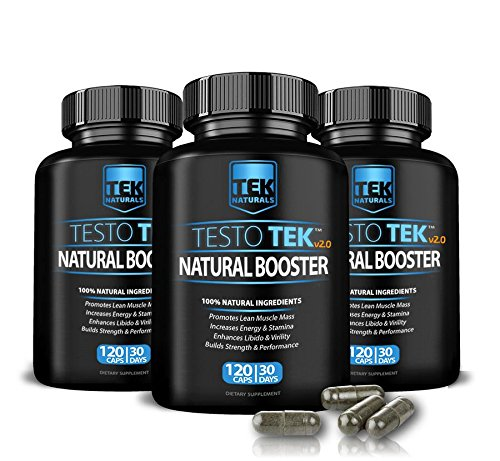 3 Bottles of TestoTEK™ v2.0 All Natural #1 Rated Testosterone Booster - 12 Ingredients, 360 Pills, 90 Day Supply - Strength, Energy, Stamina and More (3) by TEK Naturals (Image #4)
