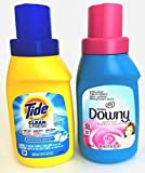 Tide Simply Clean & Fresh & Downy Travel Bundle – 2 Items: Tide Simply Clean & Fresh Liquid Detergent, Refreshing Breeze 10 oz and Downy Ultra Fabric Softener, April Fresh 10 oz