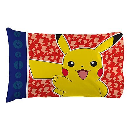 Pokemon Multicolored Pikachu Standard Pillowcase