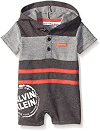 Baby Boys' French Terry Hooded Romper