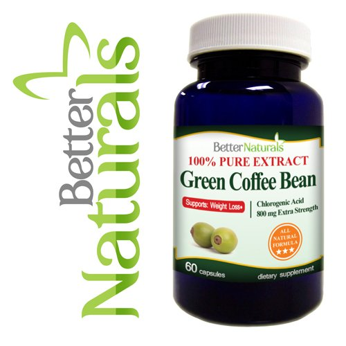 100% Green Coffee Bean Extract 800mg 60 Capsules Extra Strength All Natural Naturals, de meilleures