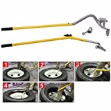 Heavy Duty Steel Socket Wrenches Tire Changer mount demount tool smooth and rust-proof Kit Tire Under Heavy Wheels Iron Fit All Types of Tires Personal Changing Garage Commercial Anti Rust