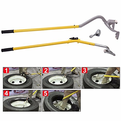 JAXPETY 17,5' to 24' TIRE Changer Mount/DEMOUNT Tool TUBELESS Truck Extra New Bead Keeper - Manual Tire Changer