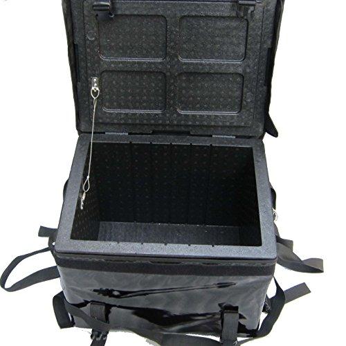 pk-46b: Pizza Delivery Caja impermeable para motocicleta/scooter/Moto, Mantener caliente durante largo 43,2cm L x 30,5cm...