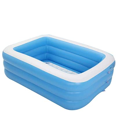 Blenko Family Inflatable Swimming Pool, Inflatable Lounge Pool for Baby, Kiddie, Kids, Adult, Infant, Toddlers for Ages 3+,Outdoor, Garden, Backyard, Summer Water Party: Toys & Games