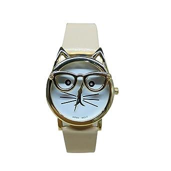 Amazon.com: Reloj de cuarzo para mujer COOKI Clearance Cat ...