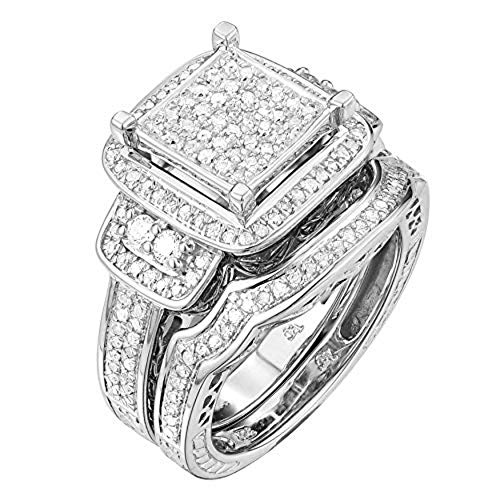 TGDJ .925 Sterling Silver 0.43 Ct Round Cut Natural Diamond Wedding Ring - High Polish Finish Promise Anniversary Band for Women - Comfort Fit Exquisite Fashion Jewelry (4)