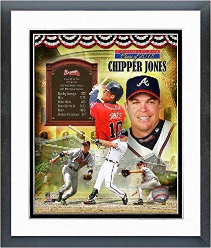 Framed Chipper - Chipper Jones Atlanta Braves MLB Hall of Fame Photo (Size: 12.5