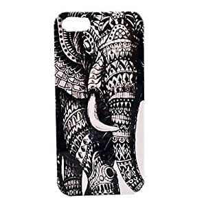 JAJAY ships in 48 hours Elephant Pattern Hard Case for iPhone 5/5S