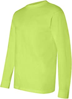 product image for Bayside USA-Made Long Sleeve T-Shirt. 6100 - XXXX-Large - Lime Green