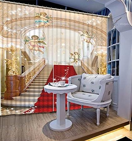 Wapel Die Fenster Vorhänge Europäischen Engel 3D Vorhänge Für Zimmer  Benutzerdefinierte Luxus Vorhänge Für Wohnzimmer Schlafzimmer