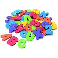 Placextre 36pcs Kids Educational Toys Floating Multi-Colour Foam Letters Num Toys Baby Bath Toy