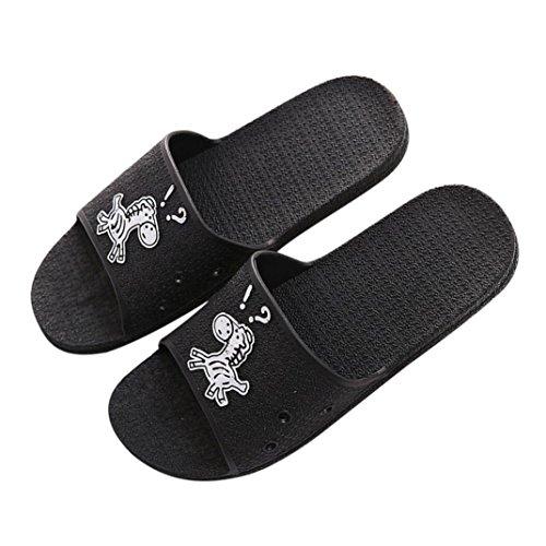 Pantoufles D'Été Bain L'Intérieur Pantoufles Sandales Slippers Unisexe Thongs de Femme et Noir Plates Yogogo Homme à Solide Extérieures xYqBxP8