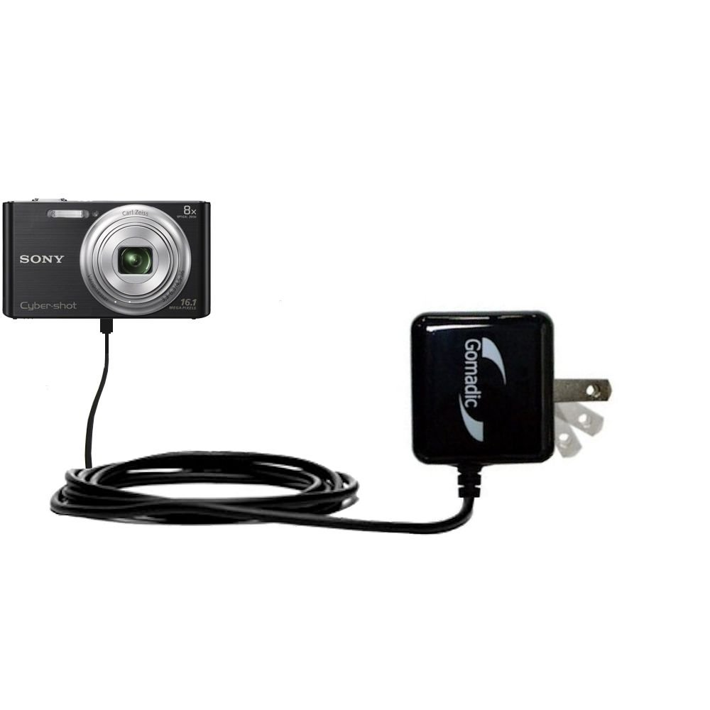 Gomadic High Output Home Wall AC Charger designed for the Sony Cybershot W730 / DSC-W730 with Power Sleep technology - Intelligently designed with Gomadic TipExchange