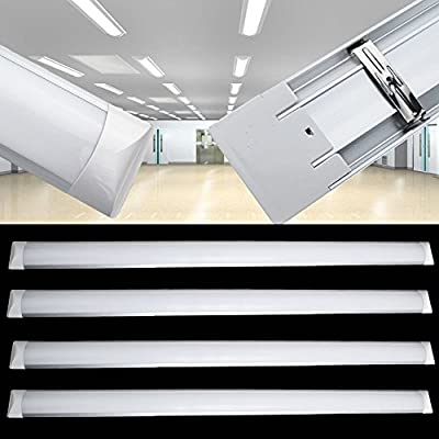 6 Pack Excellent LED Batten Linear Lights,6000-6500k,Day white glow-Perfect for Garages, Workshops, Warehouses and Barns