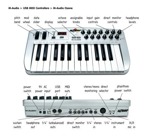 M-Audio Ozone USB Audio/MIDI Controller: Amazon.es ...