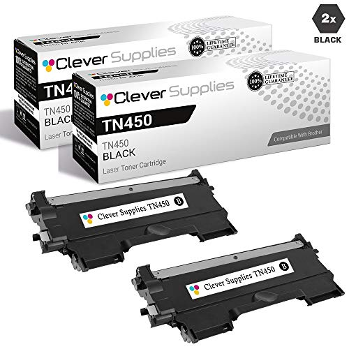 (CS Compatible Toner Cartridge Replacement Brother TN450 TN-450 2 Black DCP-2240D 2270DW 7057 7060D 7065DN 7070DW HL-2132 2135W 2230D 2240D 2242D 2250DN 2270DW)