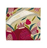 Matzah Cover for Passover Yair Emanuel Raw Silk Pink Crown Design