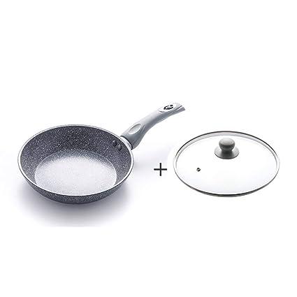FIXD [0A58 Hogar Wok/Olla de Cocina, sartenes Maifan Stone Pan Sartén Antiadherente