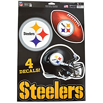 9dff3860c Official National Football League Fan Shop Licensed NFL Shop Multi-use  Decals (Pittsburgh Steelers)
