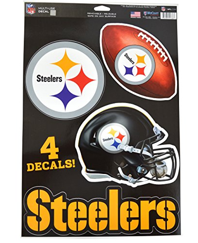 Official National Football League Fan Shop Licensed NFL Shop Multi-use Decals (Pittsburgh Steelers)