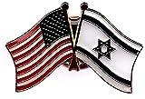 BOX of 12 Israel & US Crossed Flag Lapel Pins, Israeli & American Double Friendship Pin Badge