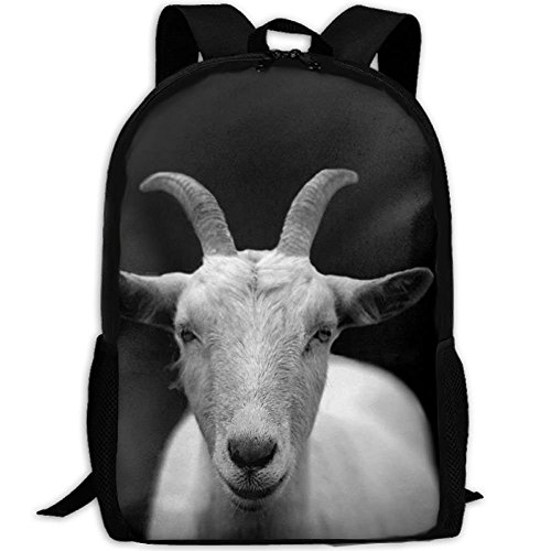 SDEYR79 Casual Goat Animal Horns Laptop Backpack School Bag Shoulder Bag Travel Daypack Handbag (Horn Daypack Bag)