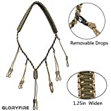 GLORYFIRE Duck Call Lanyard with Removable Drops Secures 5 Call Premium Military Grade Real Nylon Game Call Lanyard Hand Braided Camo 550LB Paracord Goose Calls for Hunting Predator Ducks Dog Whistle