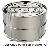 ekovana Stackable Stainless Steel Pressure Cooker Steamer Insert...