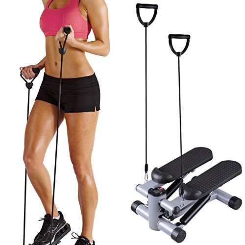 SurSector Aerobic Fitness Step Air Stair Climber Stepper Exercise Machine New Equipment with Resistance Bands