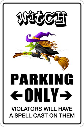 (StickerPirate Witch Parking Only 8