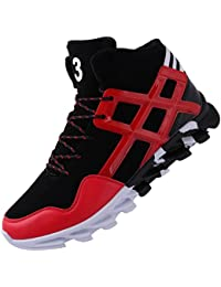 Mens Stylish Sneakers High Top Athletic-Inspired Shoes