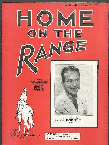 Home on the Range sheet music Calumet Chicago -
