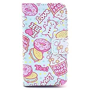 LZX Lovely Food Design PU Full Body Case with Card Slot for iPhone 4/4S