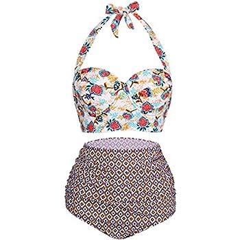 Amazon.com: angerella clásico Ruched traje de baño bikini de ...