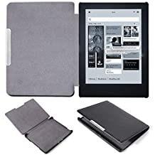 "XCSOURCE Ultra Slim PU Leather Magnetic Auto Sleep Cover Case for Kobo Aura h2o 6.8"" eReader Black PC617"