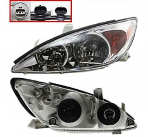 Discount Starter and Alternator TO2502137 Toyota Camry Driver Side Replacement Headlight Plastic Lens With Bulbs 2.4l 4cyl Alternator