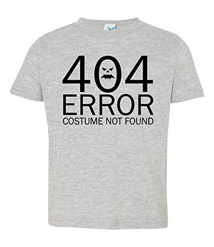 Dancing Participle Boy's Toddler 404 Error Costume Not Found T-Shirt, 5T/6T, Heather (Nerdy Toddler Halloween Costumes)