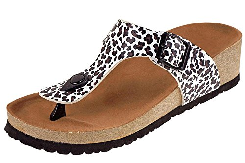 f9e995a0bb Cambridge Select Women s Thong Toe Slip On Slide Wedge Sandal (8.5 B(M)
