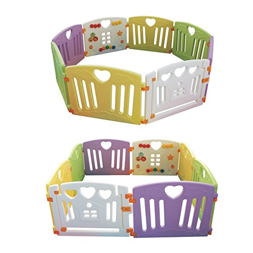 Baby Playpen Kids Activity Centre Safety Play Yard Home Indoor Outdoor New Pen (multicolour, Pudding set 8 panel) by Gupamiga (Image #8)